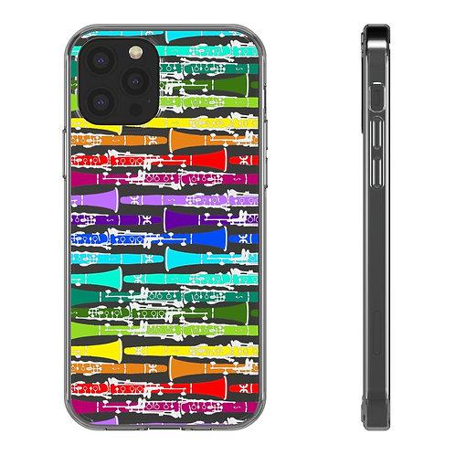 Rainbow Clarinets Clear iPhone Case