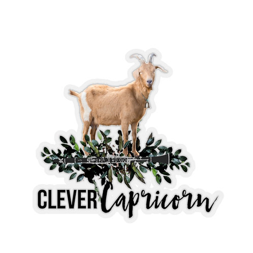 Clever Capricorn & Clarinet Stickers