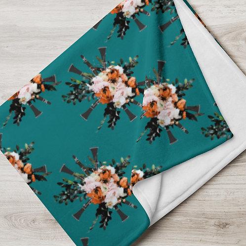 Clarinet Bouquet Throw Blanket