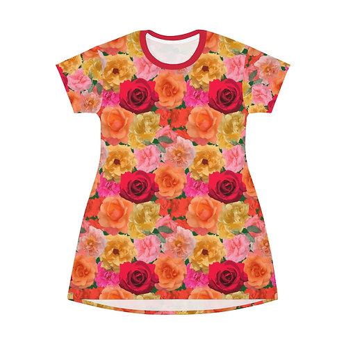 Loose Park Roses T-Shirt Dress