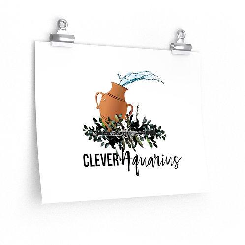 Clever Aquarius & Clarinet Posters