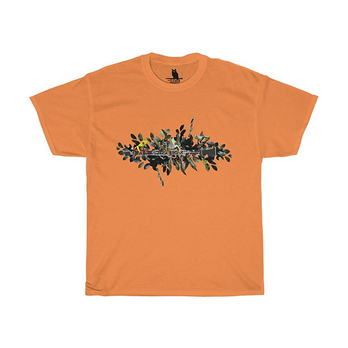 Clever Frogs & Clarinet Unisex Heavy Cotton Tee