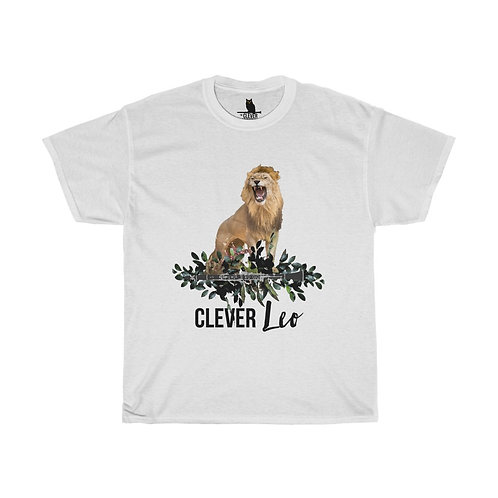 Clever Leo & Clarinet Unisex Heavy Cotton Tee