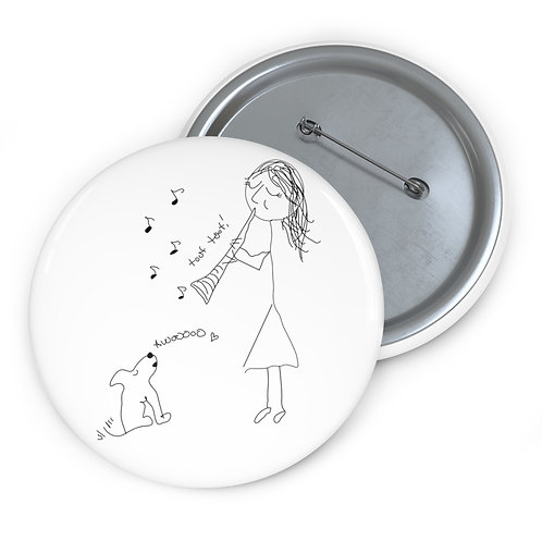 Serenade for Clarinet & Puppy Pin Buttons
