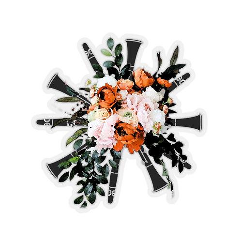 Clarinet Bouquet Kiss-Cut Stickers
