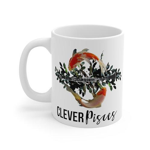 Clever Pisces & Clarinet Mug 11oz
