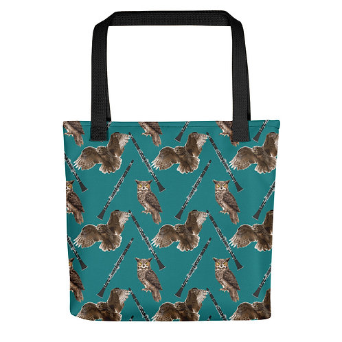 Owls & Clarinets Tote Bag