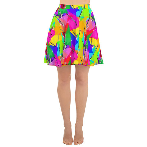 Clarinets & Abstract Triangles Skirt