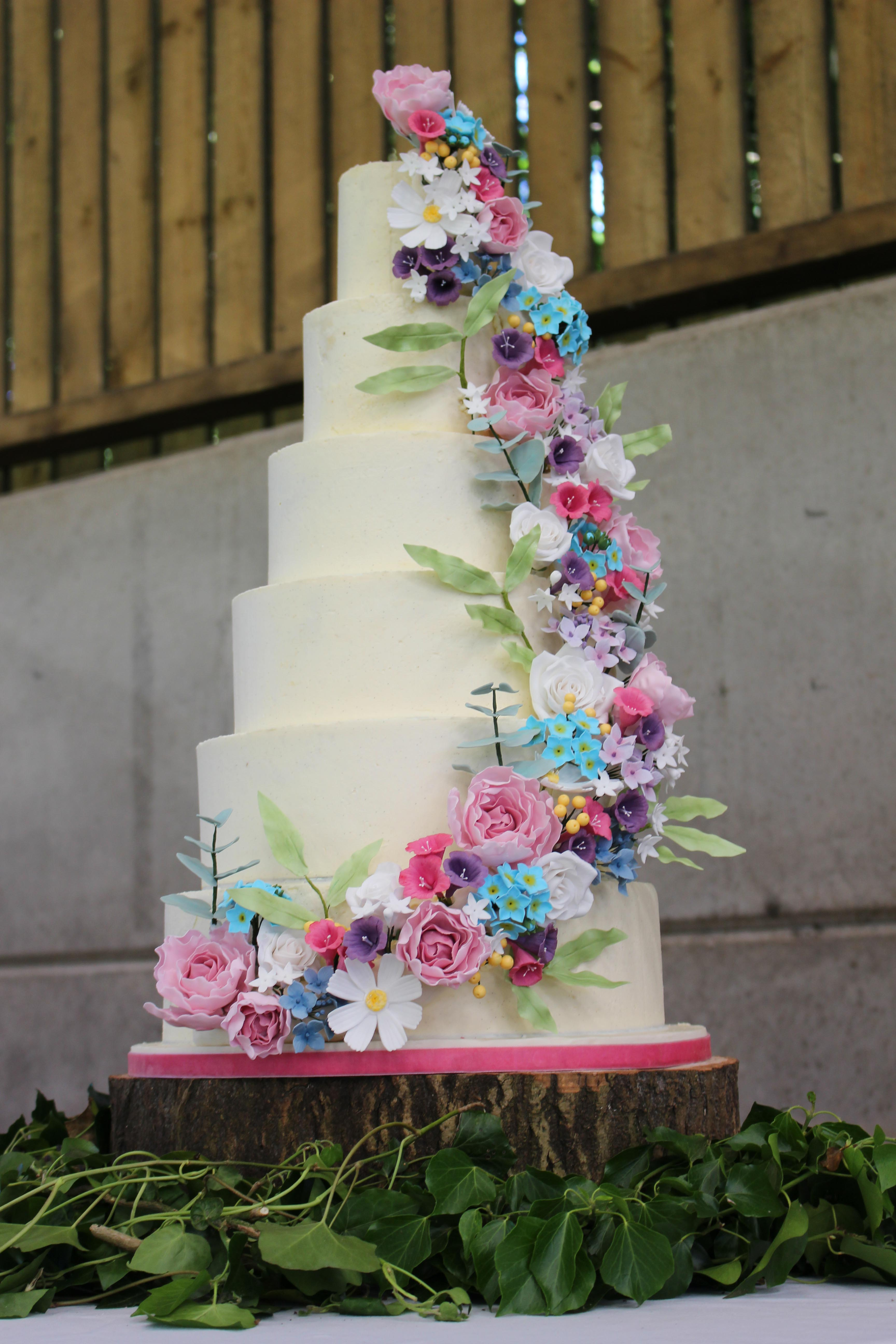 Ellie and Fred wedding cake