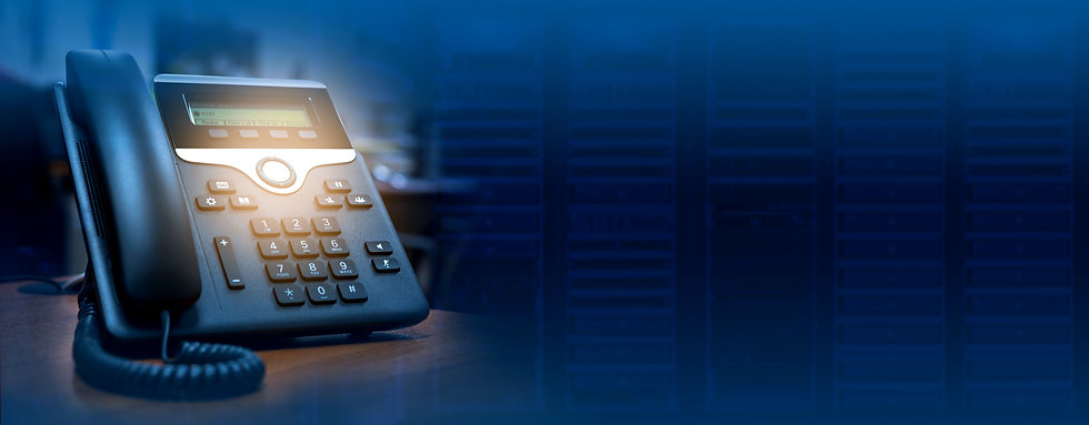 IP telephone device on blurred data cent