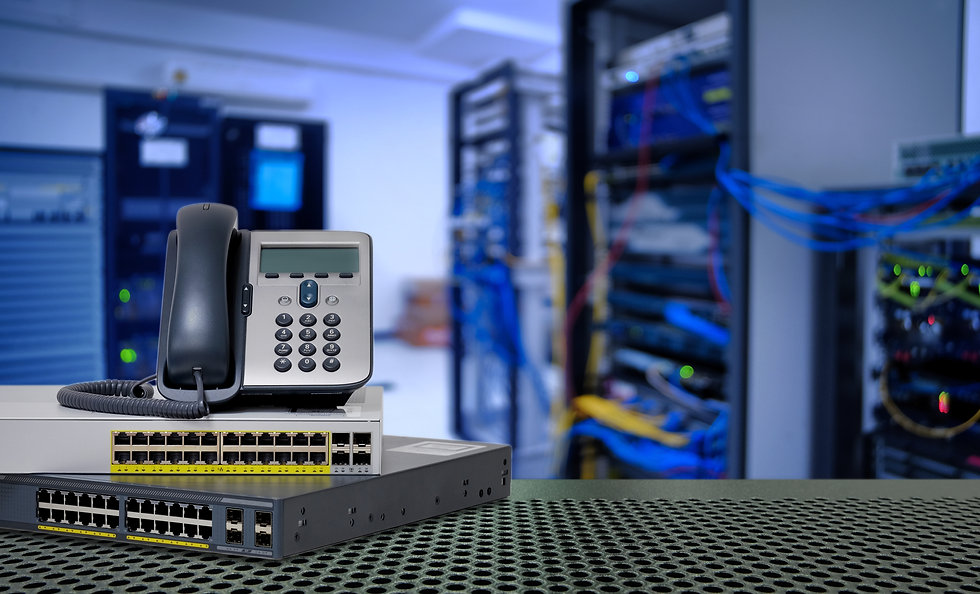 IP Telephone and Network switch 24 port