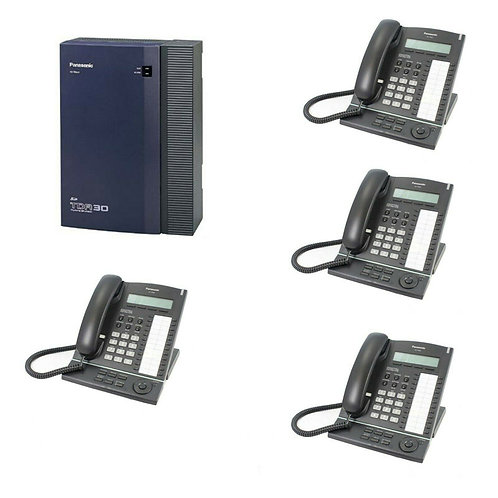 Panasonic KX-TDA30 Telephone System with 4 ISDN2 and 4 Phones