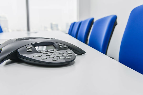 IP Conference device on the table in the