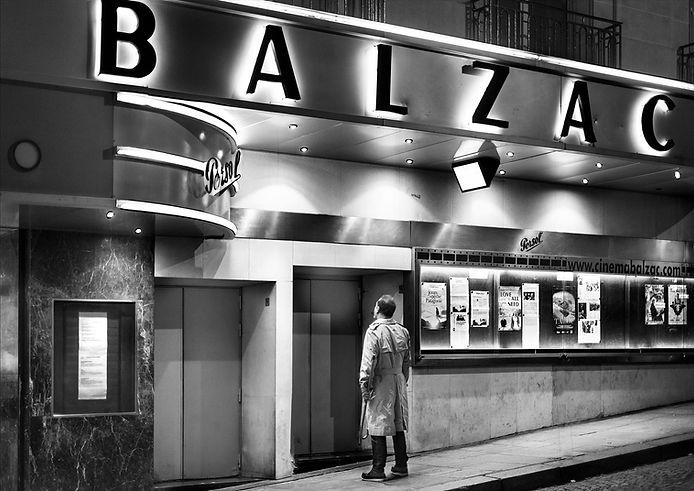 Cinéma paris noir et blanc homme