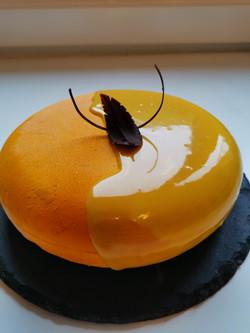 Quarkmousse Torte mit Passionsfrucht