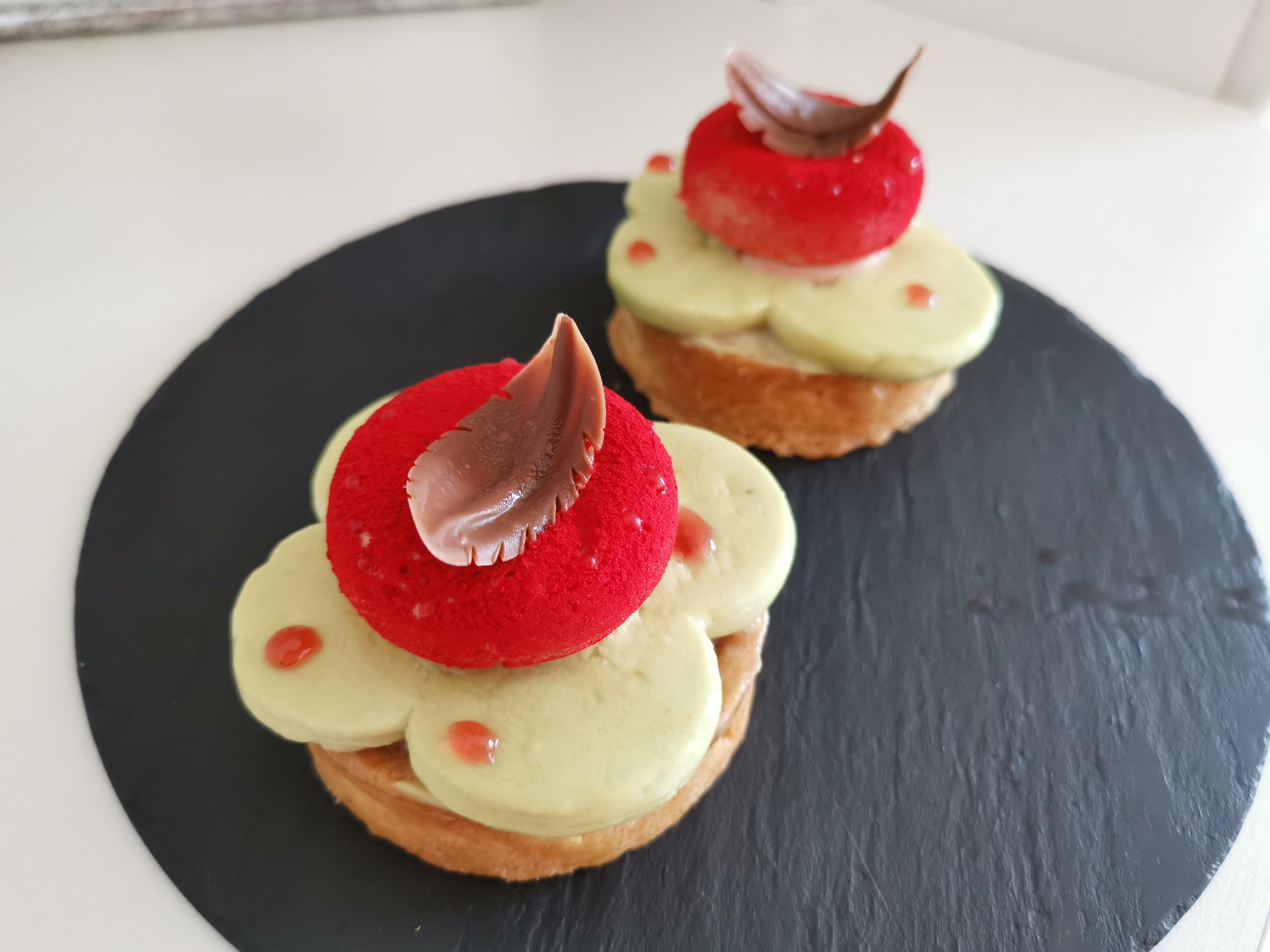 Pistazien/Erdbeeren Tarte