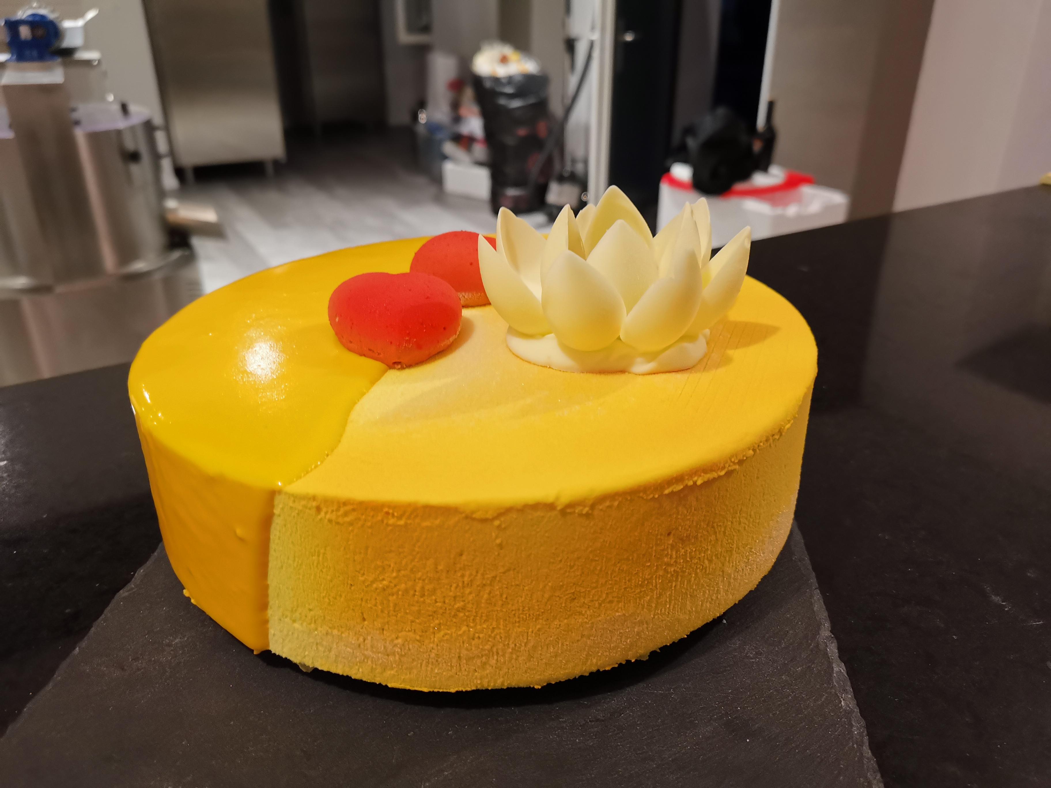 Quarkmousse mit Ananas