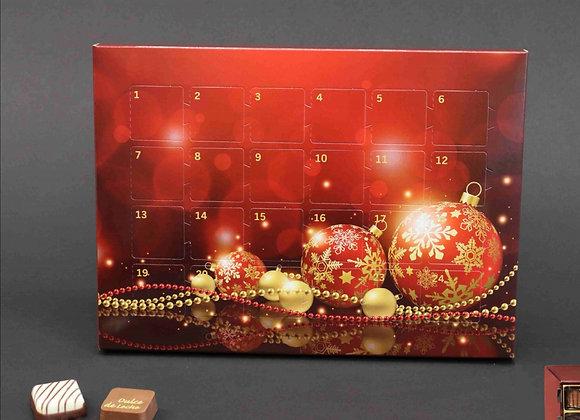 Adventskalender gefüllt mit Pralinen