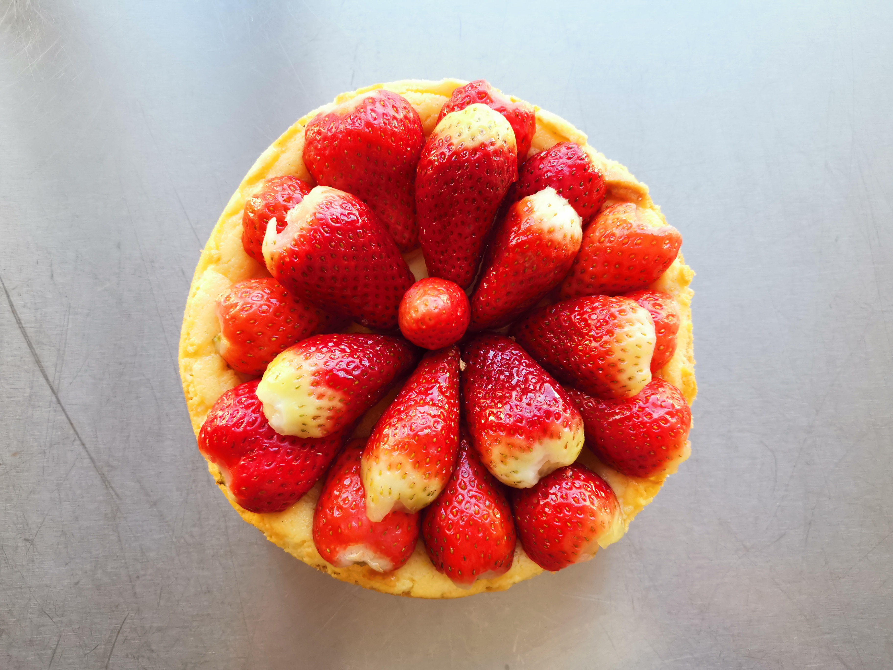 Käsekuchen mit Früchten