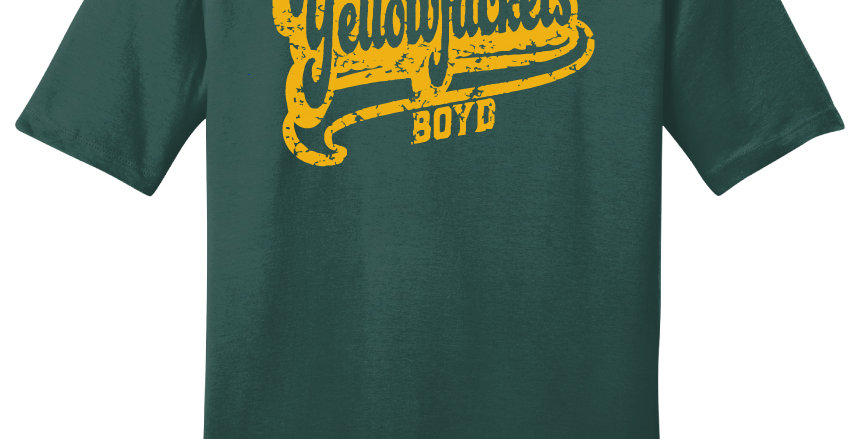 Boyd Yellowjackets Script Print