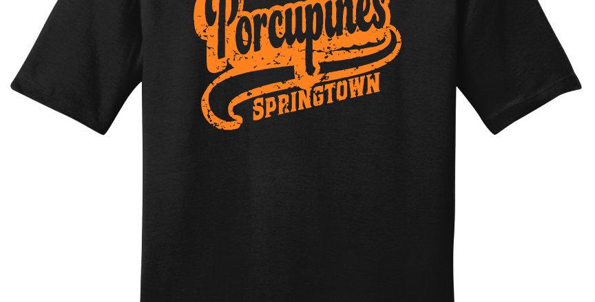 Springtown Porcupines Script Print