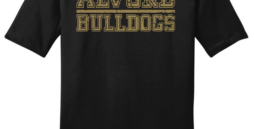 Alvord Bulldogs Block Print