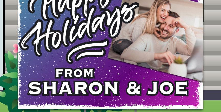 Holiday Confetti Yard Cards