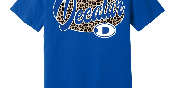 Decatur Spirit Leopard Print Apparel