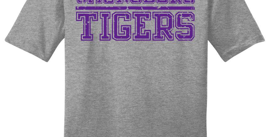 Jacksboro Tigers Block Print