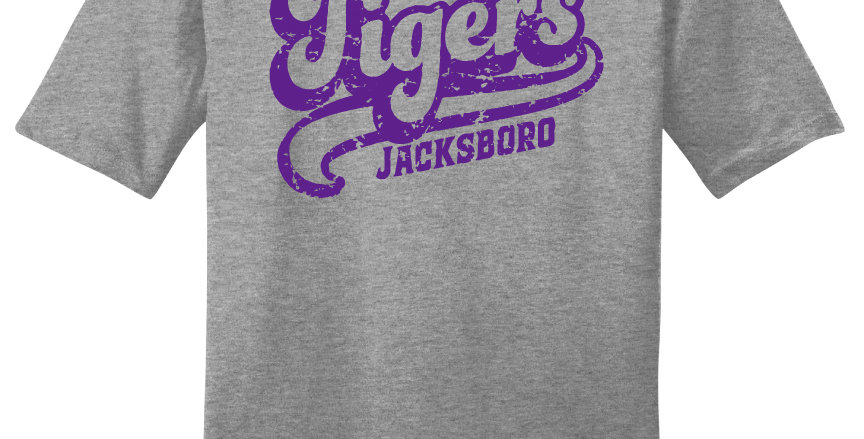 Jacksboro Tigers Script Print
