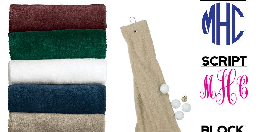 Grommeted Tri-Fold Golf Towel