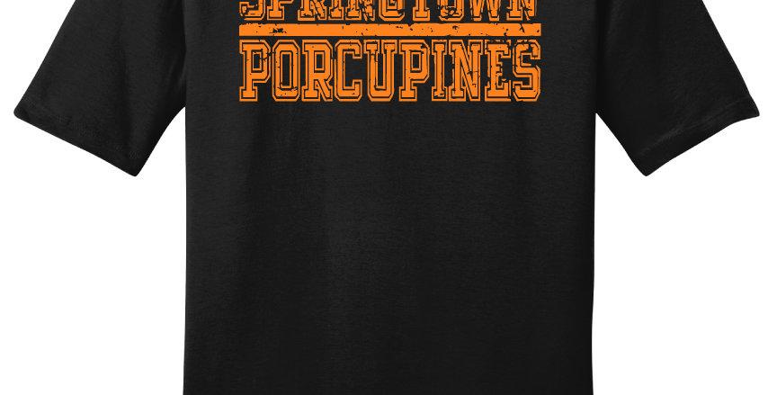 Springtown Porcupines Block Print