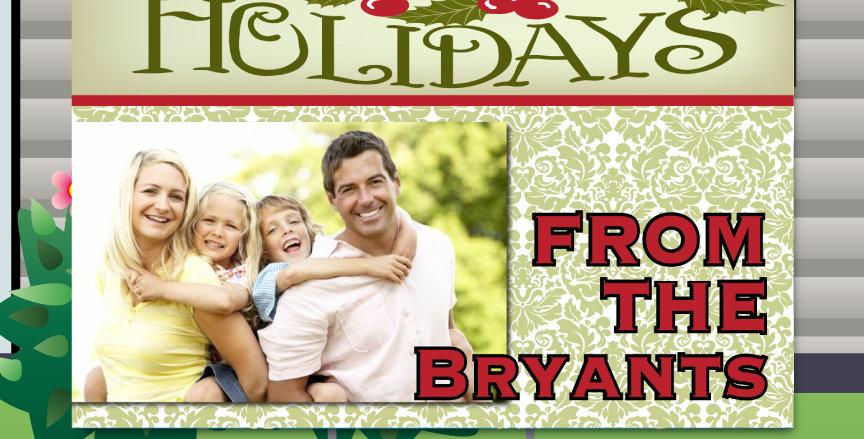 Holiday Holly Yard Cards
