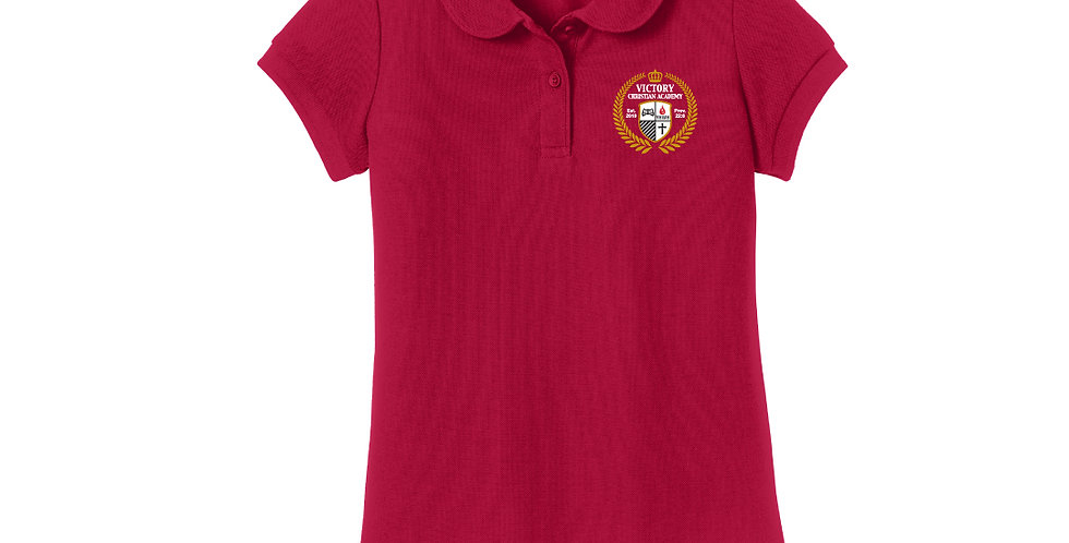 VCA Girls Silk Touch Classic Polo (YG503)