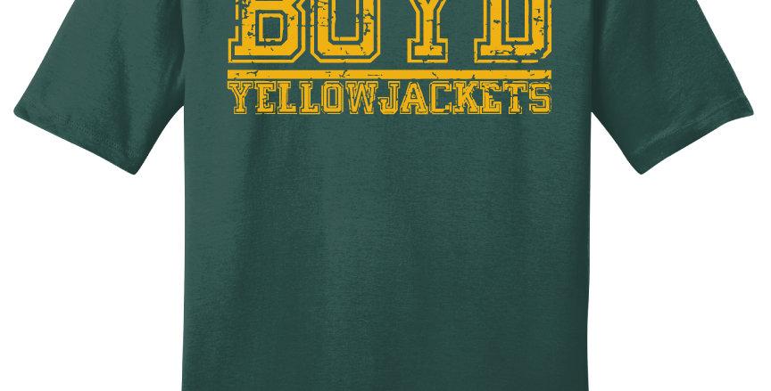 Boyd Yellowjackets Block Print