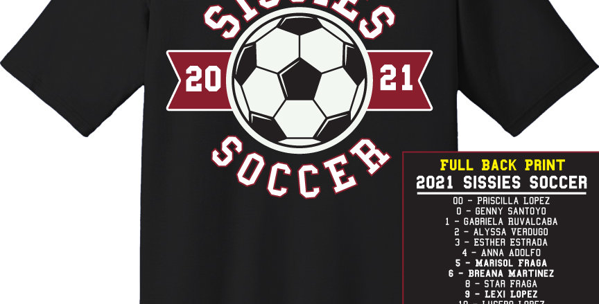 Sissies Soccer Apparel