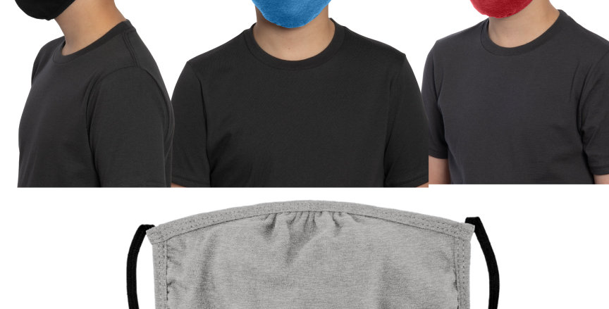 Youth District Shaped Face Mask