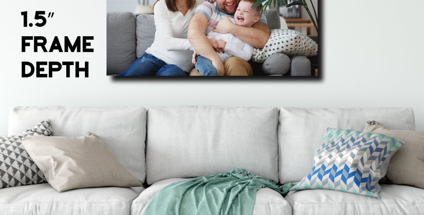"Custom Canvas Print with 1.5"" Frame Depth"