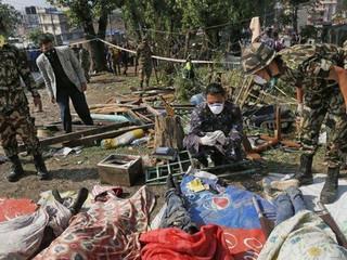 Grote schade door aardbeving in Nepal