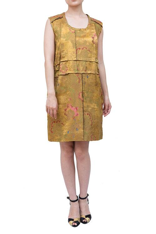 MARNI GOLD DRESS マルニ ゴールド 金 ドレス ワンピース 結婚式 パーティー