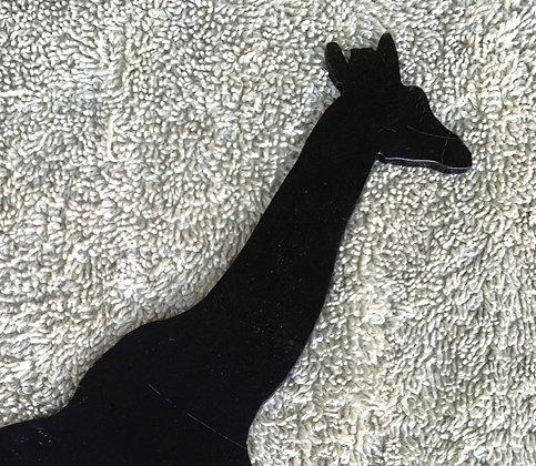 Giraffe Metal Sign