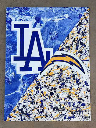 Dodgers/Chargers Painting