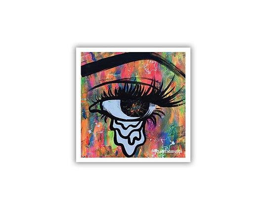 Crying Eye Sticker