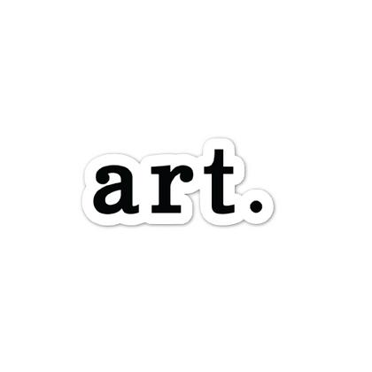 """art."" Sticker"