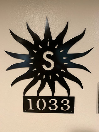 Custom Monogram/Address Sun Sign