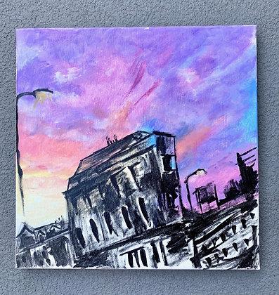 London Sunset Painting