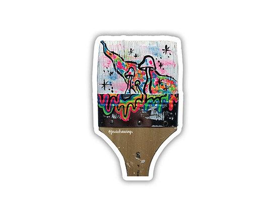 Paintbrush Sticker