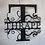 Thumbnail: Custom Monogram Metal Sign