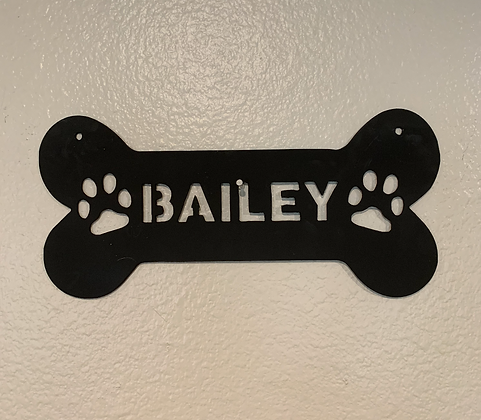 Custom Dog Bone Sign