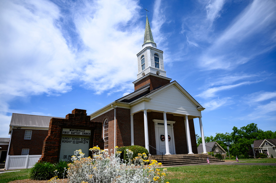 Winterville First Baptist Church on Sunday, May 24, 2020. On April 5, 2020, the church stopped meeting in person and switched to live streamed services.